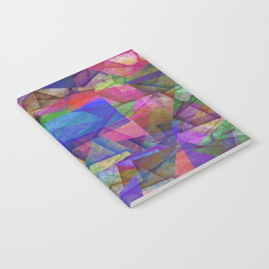 Pieces Of colour - Abstract, colour fragments Notebook