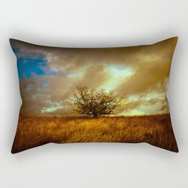 English landscape with lone tree, UK Rectangular Pillow