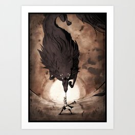 May the Dread Wolf take you Art Print