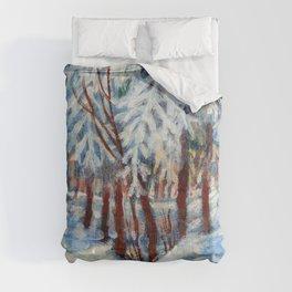 Snow in October by Dennis Weber / ShreddyStudio Comforters