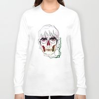 calavera Long Sleeve T-shirts featuring Calavera by Nuria R. Artuñedo