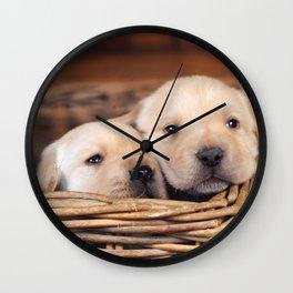 Puppies Labrador Retriever Wall Clock