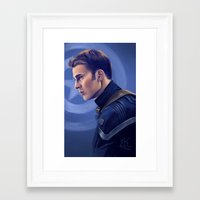 steve rogers Framed Art Prints featuring Steve Rogers by Faerytale-Wings