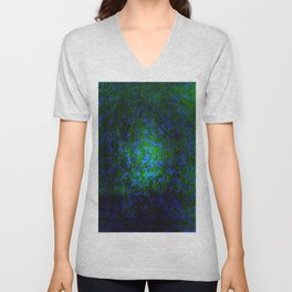 Abstract blue and green Unisex V-Neck