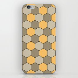 Honeycombs op art beige iPhone Skin
