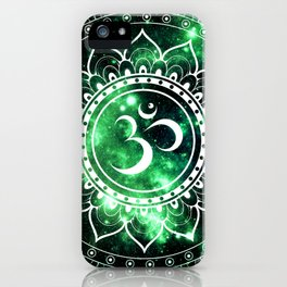 Om Mandala Green Space iPhone Case