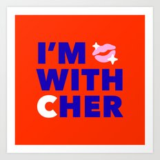 #I'mwithCher Logo #2 Art Print