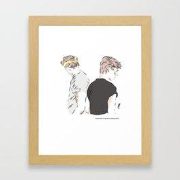 Isak and Even Framed Art Print