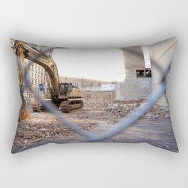 Concrete Jungle Undergoing Maintenance, New York City Rectangular Pillow