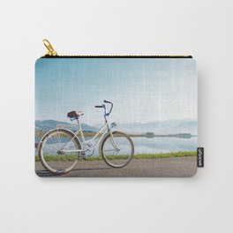Bike Beside a Lake Carry-All Pouch