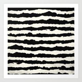 Horizontal Ivory Stripes Art Print