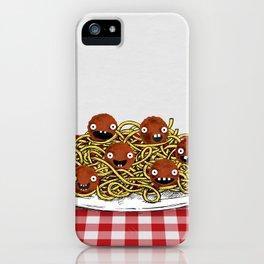 Spaghetti + Meatballs iPhone Case