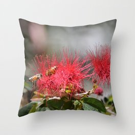 For the love of Bees Throw Pillow
