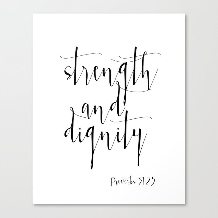 Bible Verse Proverbs31:25 Christian Quote Typography Wall Art ...