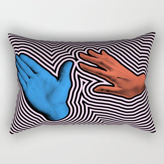 Crash Hand Rectangular Pillow