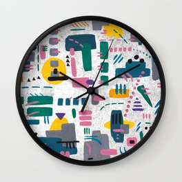 Abstract gouache Wall Clock