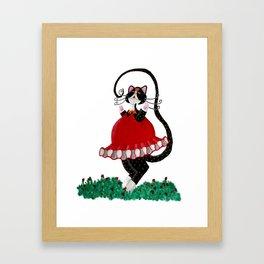 Calico Ballerina Framed Art Print
