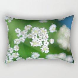 White flowers Beskid Niski Rectangular Pillow