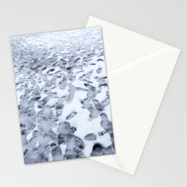 Footprints in the Melting Snow at Whistler Stationery Cards