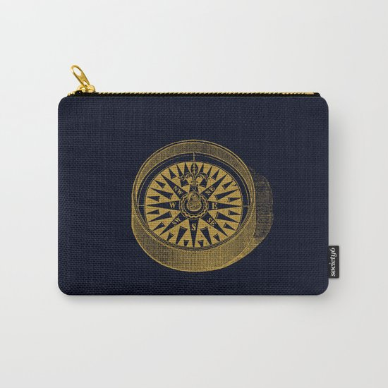 The golden compass I- maritime print with gold ornament Carry-All Pouch