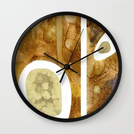SPILLED COFFEE Wall Clock