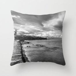 Clouds over St Andrews Throw Pillow