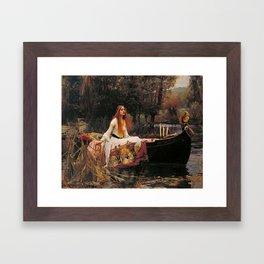 John William Waterhouse The Lady Of Shalott Framed Art Print