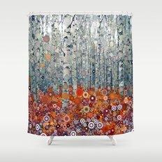 :: Run Free Woods :: Shower Curtain