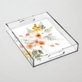 Your Mind Is Garden Acrylic Tray