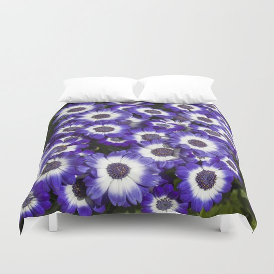Cineraria Purple Duvet Cover