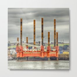Wavewalker In Falmouth, Cornwall Metal Print