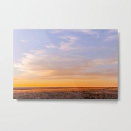 Golden South Dakota Sunset Metal Print