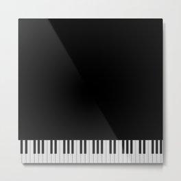 Piano Keyboard Metal Print