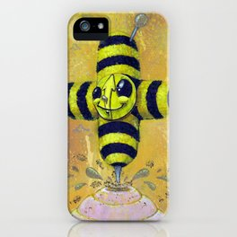 Bee Positive iPhone Case