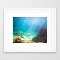 under the sea Framed Art Prints featuring Under by Chase Zalewski