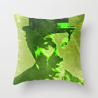 charlie chaplin Throw Pillows featuring Charlie Chaplin by Pedro Nogueira