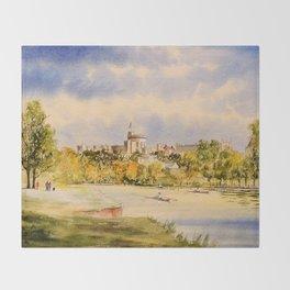 Windsor Castle And River Thames Throw Blanket