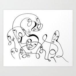 Swirl of Eyes [Jordan E. Eismont] Art Print