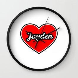 Love for JAYDEN Wall Clock
