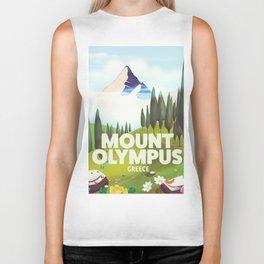 Mount Olympus, Greece, Travel poster Biker Tank