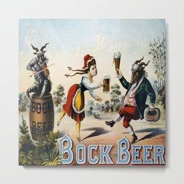 Vintage poster - Bock Beer Metal Print