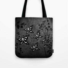 Skullerflies in the garden - dark scale Tote Bag