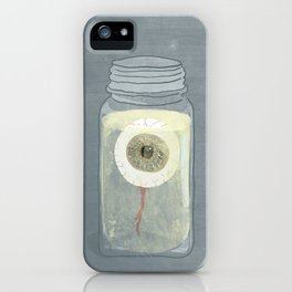 Eyeball in Mason Jar iPhone Case