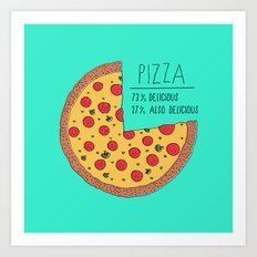 Pizza Pie Chart Art Print