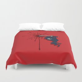 Attack of the Tiny Ninja Duvet Cover