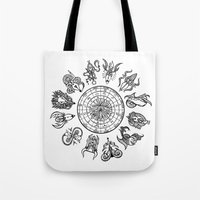 zodiac Tote Bags featuring zodiac  by My dominance