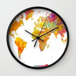 world map 23 Wall Clock