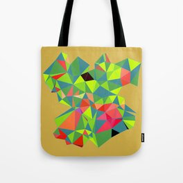 green blue polygon Tote Bag