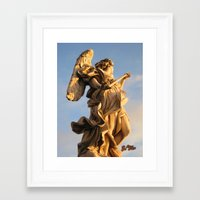 nico di angelo Framed Art Prints featuring Angelo by Chema G. Baena Art