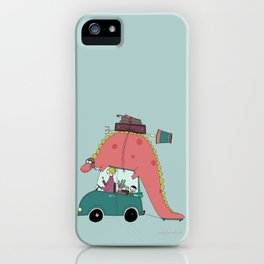 Dino on the move iPhone Case